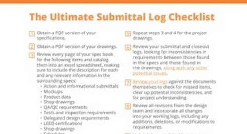 Submittal Log Checklist