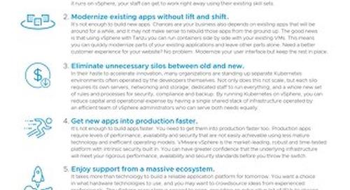 Top 5 Reasons Kubernetes Runs Better on VMware vSphere