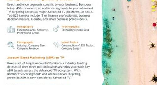 Bombora Advanced TV solution 2021