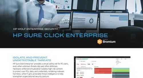 HP Sure Click Enterprise - Solution Brief