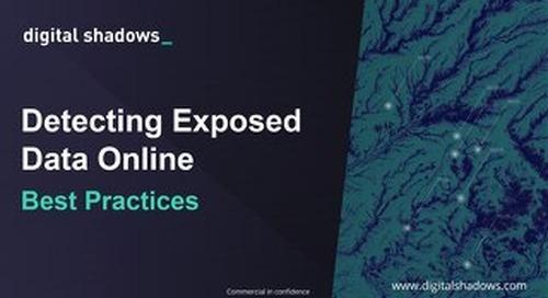 Detecting Exposed Data Online - Webinar Slides