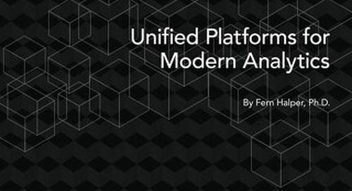 TDWI Best Practices Report: Unified Platforms for Modern Analytics