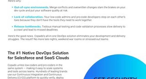 Develop + Deliver on Salesforce with CI/CD | Copado