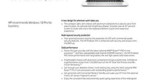HP ProBook 445 - Product Brief