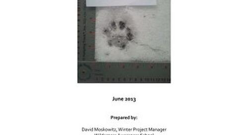 CWMP 2012-2013 Winter Field Season Report