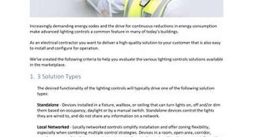 How to Evaluate Lighting Controls Blog