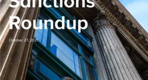 Sanctions Roundup Third Quarter 2021