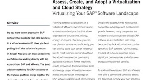 Assess Create and Adopt a Virtualization and Cloud Strategy