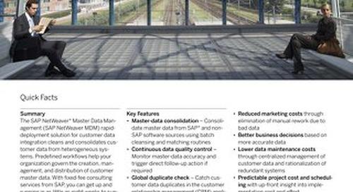 Rapidly Deploy a Customer Data Integration Solution