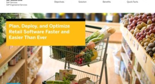 Plan, Deploy, and Optimize Retail Software Faster and Easier Than Ever