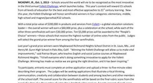 2013_2014 Follett Challenge news release - v5