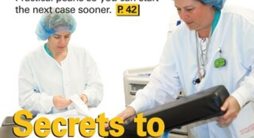 Secrets to Speedier Room Turnover - November 2013 - Subscribe to Outpatient Surgery Magazine