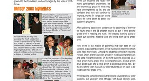 2009 Winter Newsletter