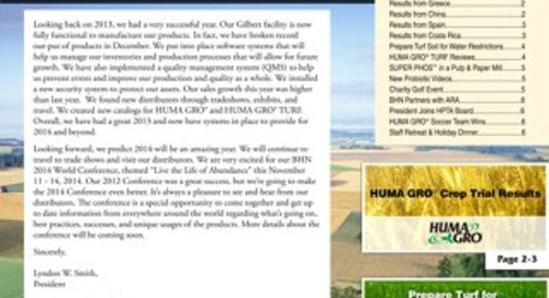 2014 Winter Newsletter