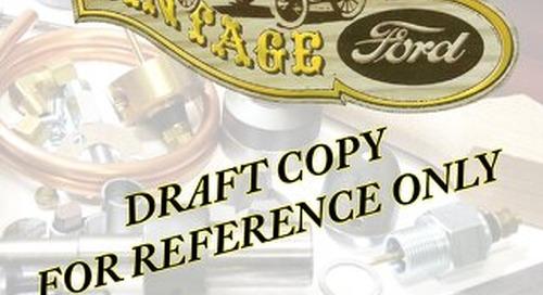 Model T Ford  Parts Catalog - Draft Copy 1-2014
