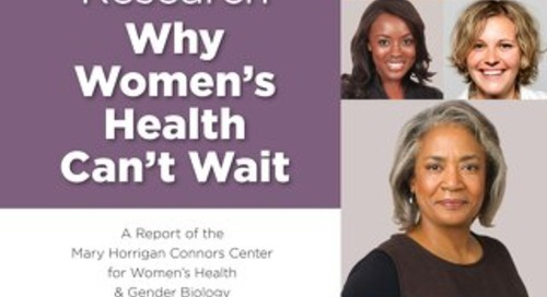 1403CWHS - Sex-Specific Medical Research: Why Women's Health Can't Wait
