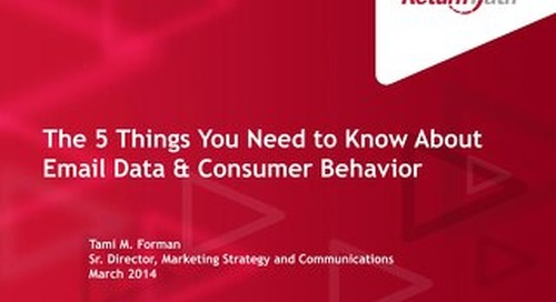 Email Data & Consumer Behavior