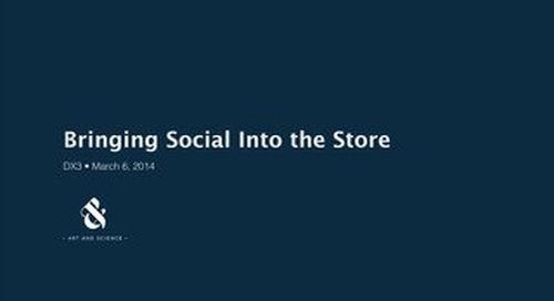 Bringing Social Into The Store