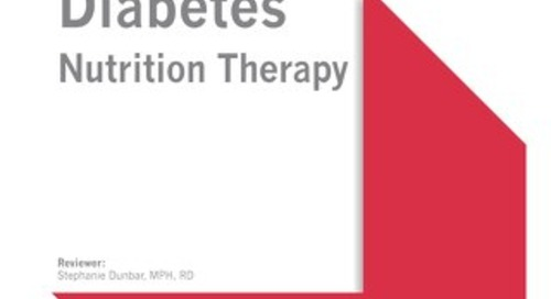 Diabetes Nutrition Therapy