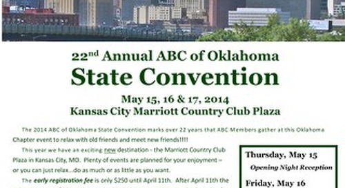 ABC State Convention 2014 Registration Packet