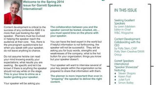 GSI Spring 2014 Newsletter