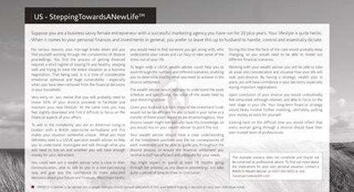 Case Studie US: SteppingTowardsANewLife