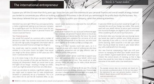 Case Studies US: The international entrepreneur