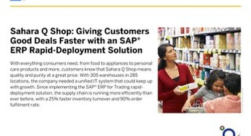 Sahara Q Shop: Giving Customers Good Deals Faster with an SAP ERP Rapid-Deployment Solution