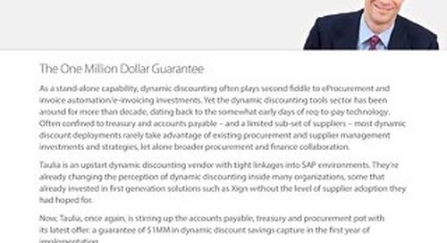 Article: Taulia's Million Dollar Guarantee