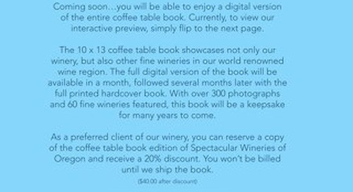 Spectacular Wineries of Oregon Book Preview