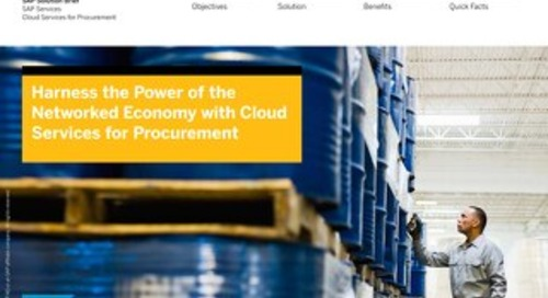 Harness the Power of the Networked Economy with Cloud Services for Procurement