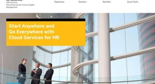 Start Anywhere and Go Everywhere with Cloud Services for HR