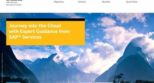 Journey into the Cloud with Expert Guidance from SAP Services