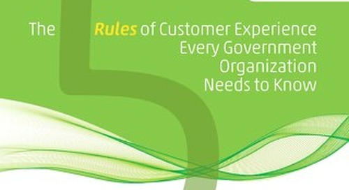 5 Rules of CX for Government