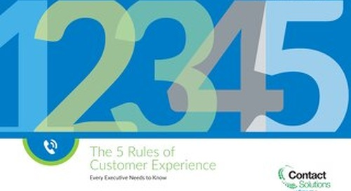 5 Rules of CX Every Executive Needs to Know