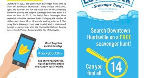 Lucky Duck Scavenger Hunt Clue Card