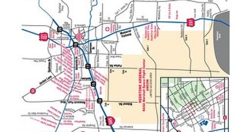 Huntsville Accommodations Map