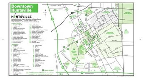 Downtown Huntsville Map
