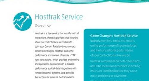 Hosttrak Service Datasheet