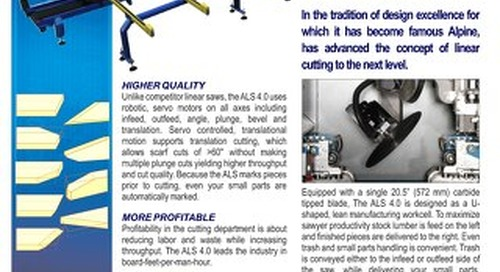 ALS ALPINE LINEAR SAW 4.0 Technical Sheet