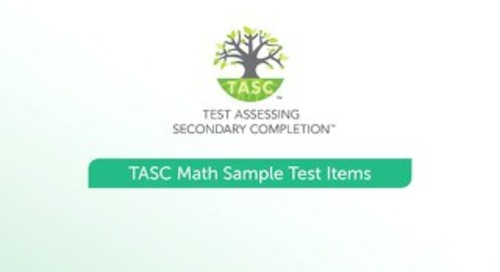 TASC Test Math Sample Items