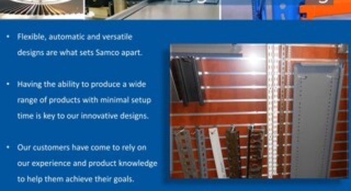 Samco Machinery Storage and Racking Presentation