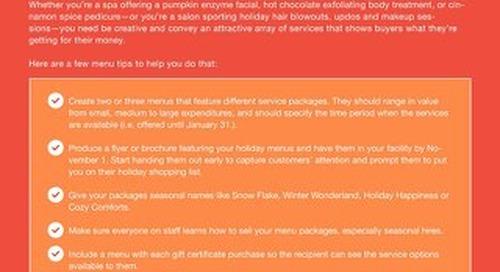 Spa & Salon Holiday Menu Checklist