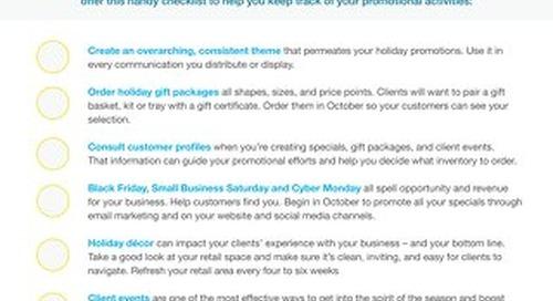 Holiday Promotions & Packages Checklist