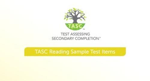 TASC Test Reading Sample Items