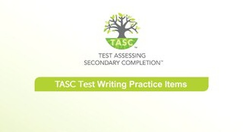 TASC Test Writing Sample Items