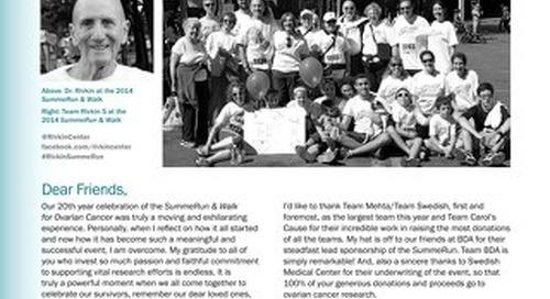 Finish Line - 2014 SummeRun & Walk for Ovarian Cancer
