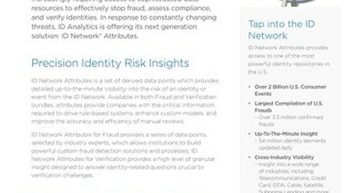 Fraud ID Network® Attributes Datasheet