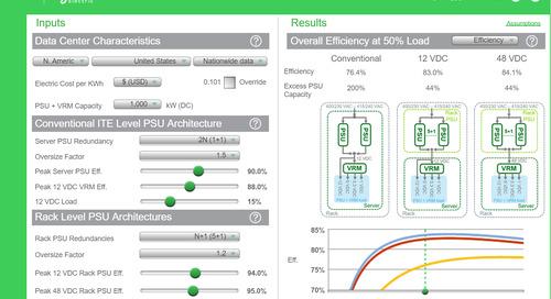 12V vs. 48V: The Rack Power Architecture Efficiency Calculator Illustrates Energy Savings of OCP-style PSUs