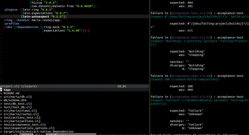 A tmux and Vim Clojure IDE